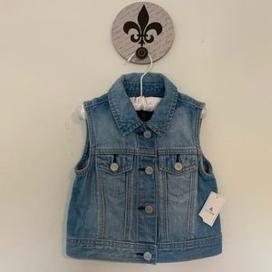 Baby GAP Denim Vest Size 3T NEW with tags 3 Year